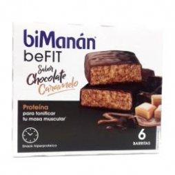 Bimanan Pro Choco Caramelo 6 Barritas