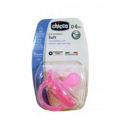 Chupete Todogoma Silicona Rosa 0-6M Chicco