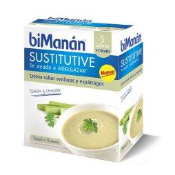 Bimanan Sustitutive Crema Verduras y Espárragos 6 sobres