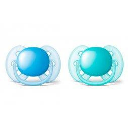 Avent 2 Chupetes 6-18M Ventilado Azul