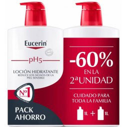 Eucerin Pack Loción Hidratante 2X1000ml 60% 2ªud