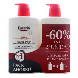 Eucerin Pack Gel Baño 2X1000ml 60% 2ªud