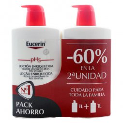 Eucerin Loción Enriquecida 2X1000ml 60% 2ªud