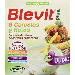 Blevit Plus Duplo 8 Cereales Fruta 600gr