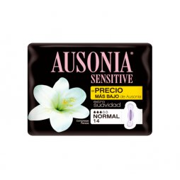 Ausonia Sensitive Normal Alas 14ud