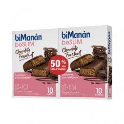 Bimanan beSLIM Pack Barritas Chocolate Fondant 2ªUD 50%