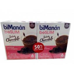 Bimanan Pack 6 Batidos Choco 2ªud 50%
