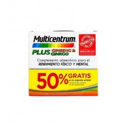 Multicentrum Plus Ginseng/Ginkgo 2ªud 50% 30 + 30