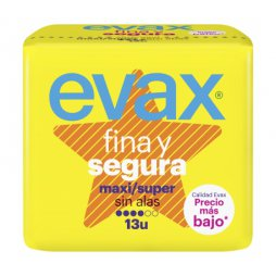 Evax Fina y Segura Maxi Sin Alas 13uds