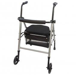 Andador con Asiento Regulable y cesta